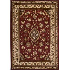 Cloudview Elegance Bordered Red Area Rug