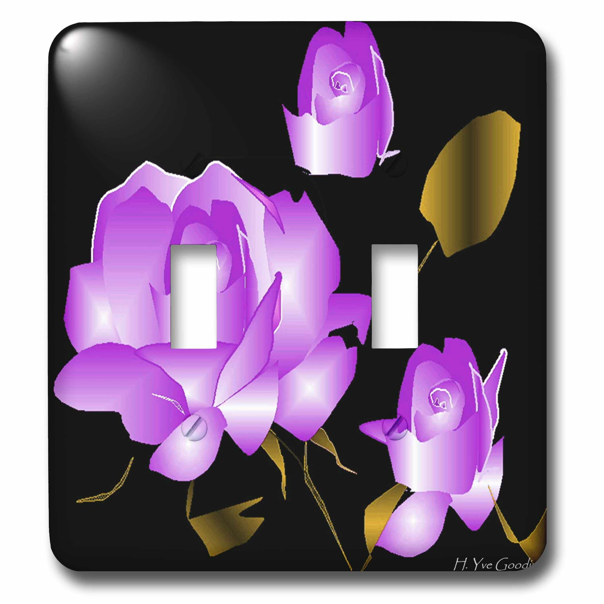 3drose Lavender Rose 2 Gang Toggle Light Switch Wall Plate Wayfair