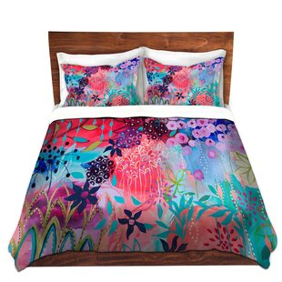 DiaNoche Designs Spirit Garden Flowers Duvet Cover Set