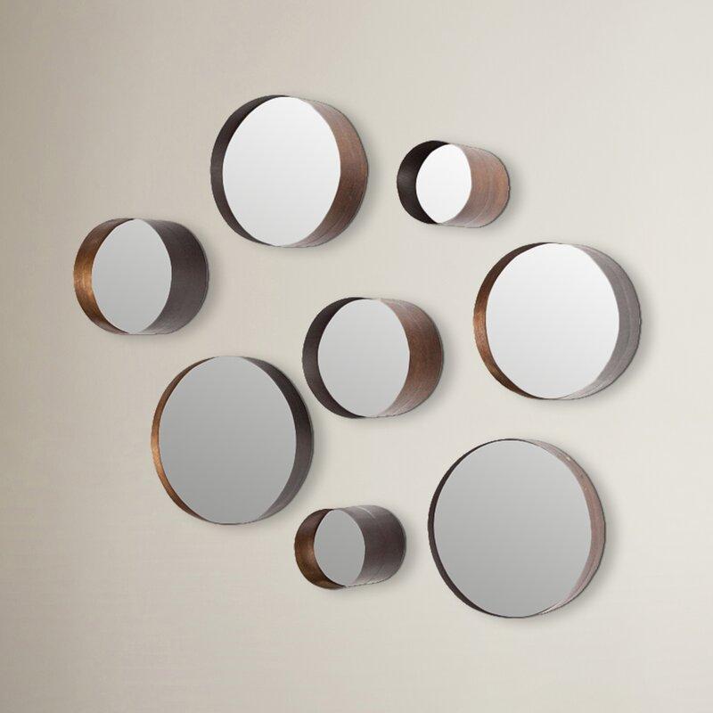 Wall Mirror Set brayden studio lonergan 8-piece arlington wall mirror set