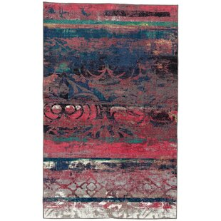 Affordable Vermont Eroded Pink/Green/Black Area Rug By World Menagerie