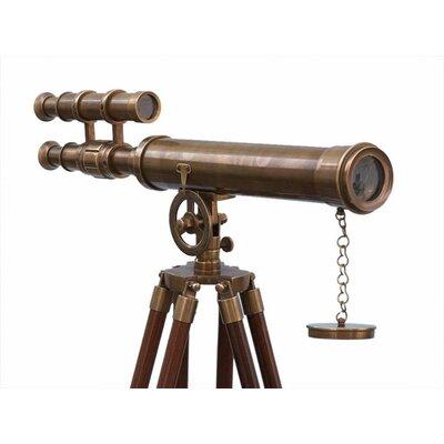 Handcrafted Nautical Decor Floor Standing Refracting Telescope Finish: Antique Brass