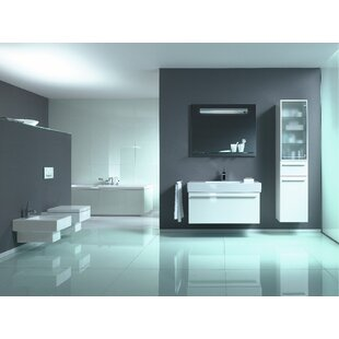 Duravit Vero Dual Flush Square Wall-Mount Toilet Bowl with Glazed Surface (Seat Not Included)