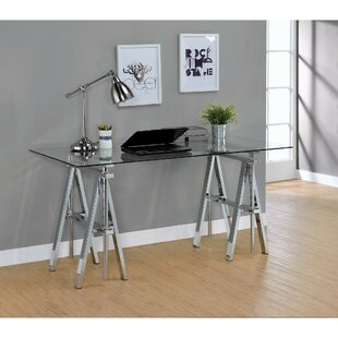Gilley Adjustable Desk With Sawhorse Legs by Wrought Studio Best #1