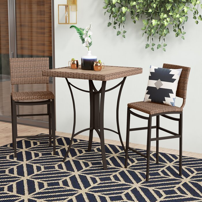 3 Piece Tall Dining Set