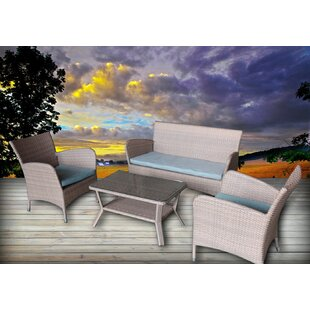 Honeycutt 4 Piece Sofa Set with Cushions