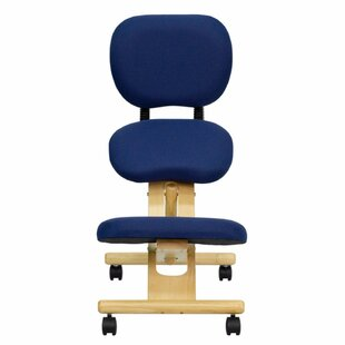Mobile High-Back Kneeling Chair with Dual Wheel