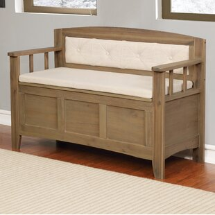 Gracie Oaks Armina Wood Storage Bench