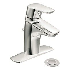 Moen Method Centerset Low Arc Bathroom Faucet with Optional Pop-Up Drain Assembly