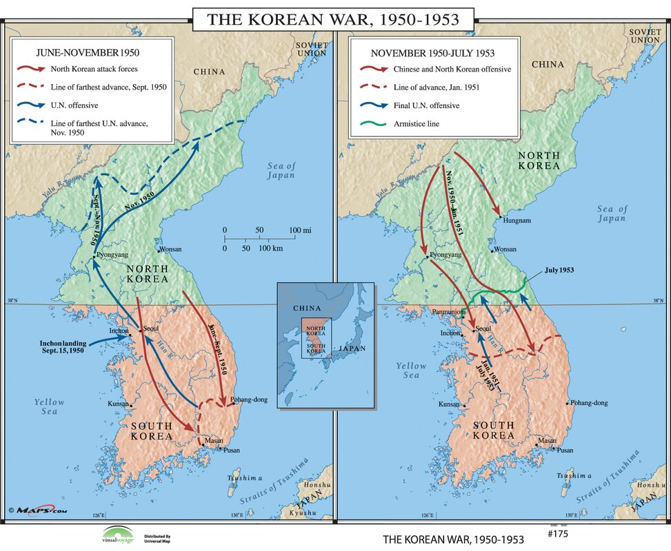 Worksheet. Universal Map World History Wall Maps  The Korean War 195053