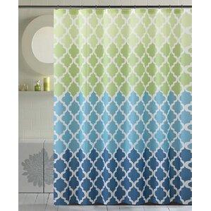 cobbs bamboo flat shower curtain geneva green