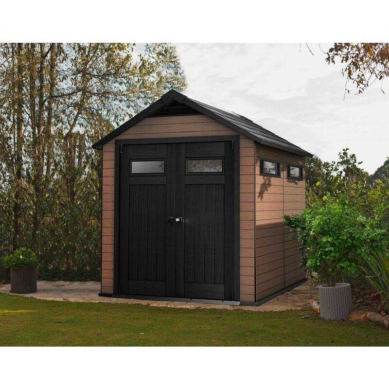 Keter Fusion Ft In W X Ft In D Composite Storage Shed