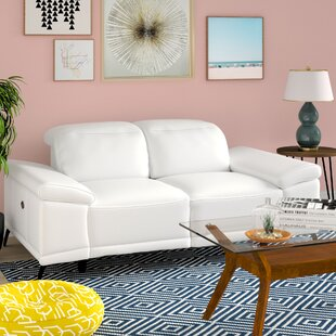 Brookville Leather Reclining Loveseat by ..