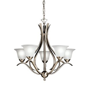 Check Prices Cayman 5-Light Shaded Chandelier By Alcott Hill