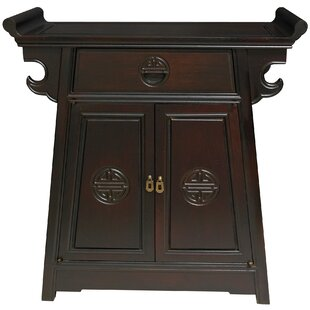 Lacquer Altar Accent Cabinet