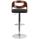 Evan Swivel Adjustable Height Bar Stool by Wrought Studio™