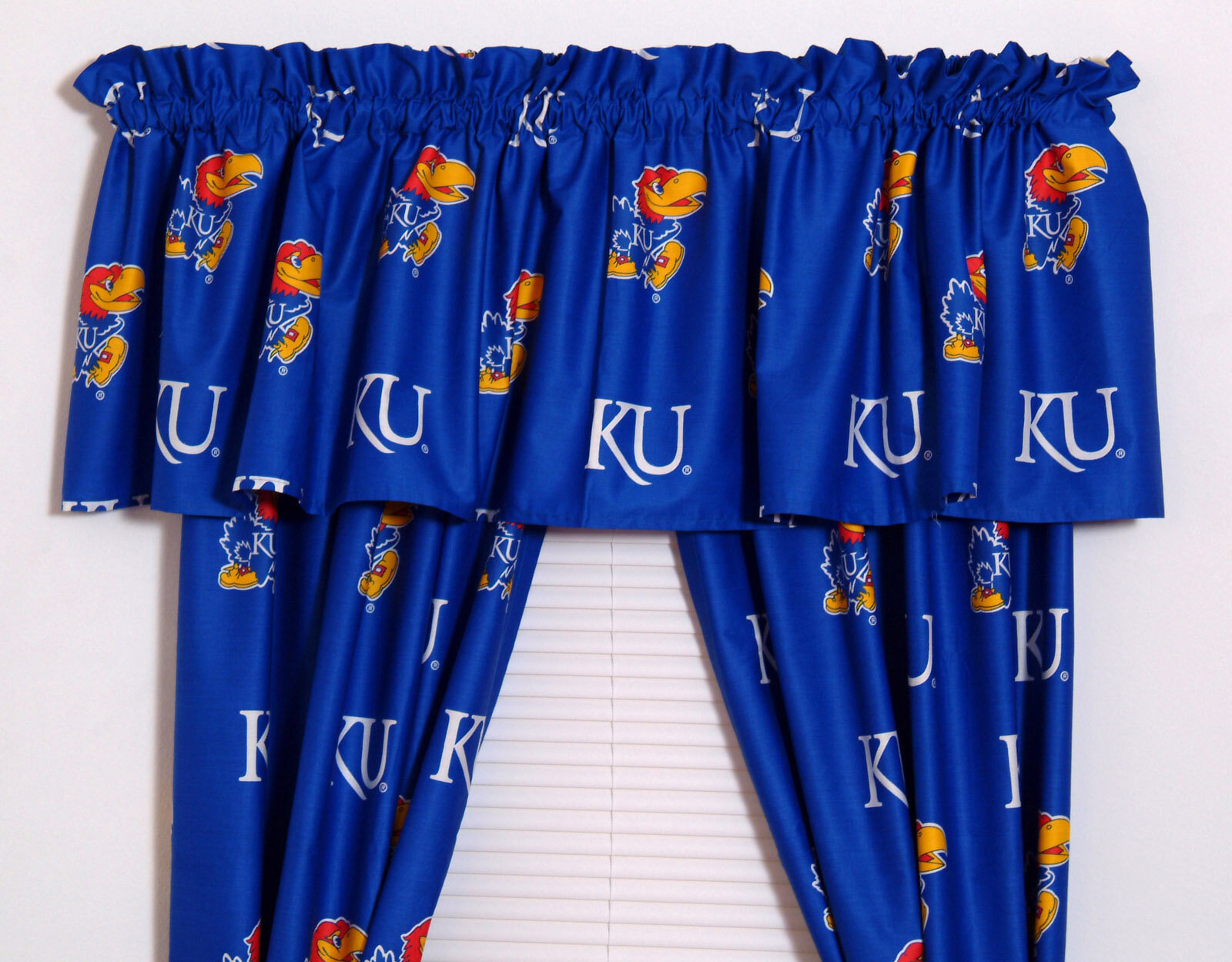 College Covers Ncaa Kansas Printed Sports Rod Pocket Curtain Panels Reviews Wayfair