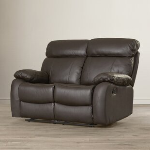 Red Barrel Studio Franciscan Leather Reclining Loveseat