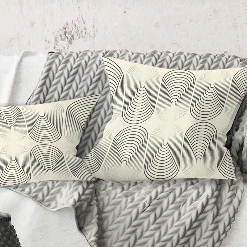 East Urban Home Monochrome Pattern X Pillow Wayfair