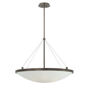 Suspended 6-Light Bowl Pendant by George Kovacs by Minka