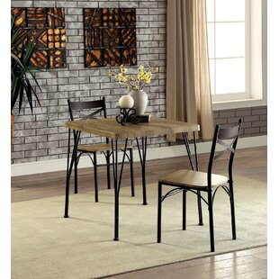 Roslyn 3 Piece Solid Wood Dining Set
