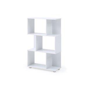 Debolt Staggered 3 Shelf Geometric Bookcase by Orren Ellis