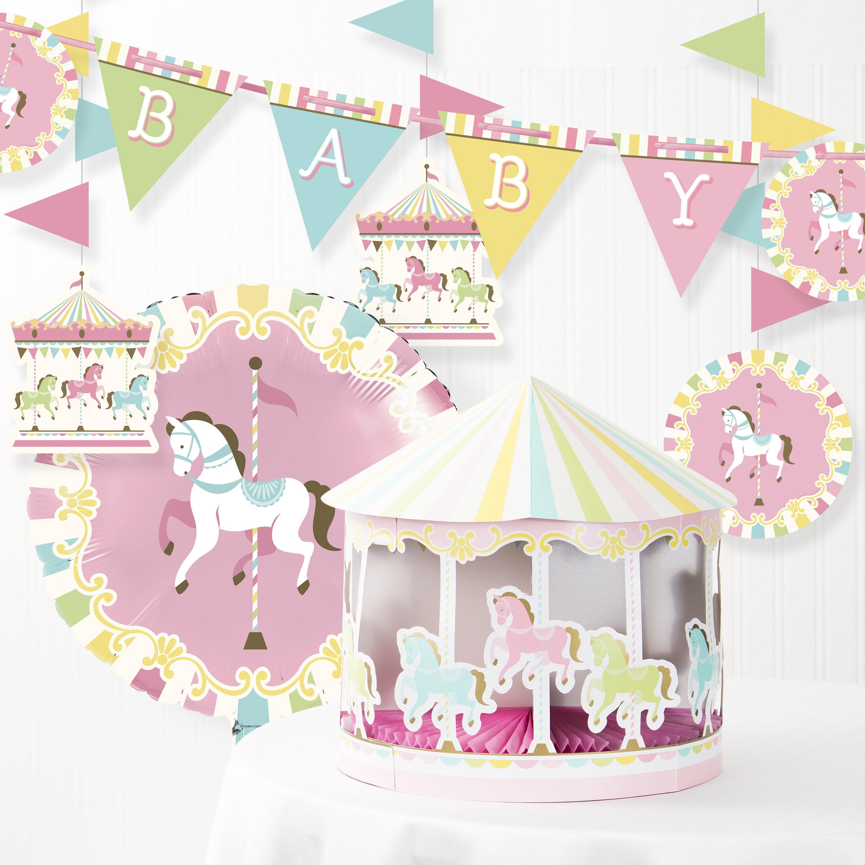Carousel Baby Shower Decoration Kit