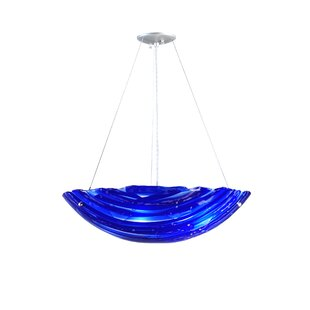 Meyda Tiffany Metro Fusion Azul Handkerchief 4-Light Bowl Pendant
