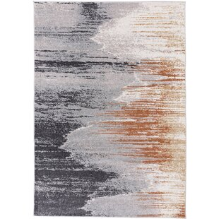 Florentine Hand-Tufted Grey/Orange Rug by Gino Falcone