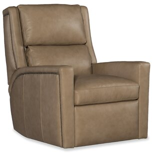 Norman Leather Power Wall Hugger Recliner with Articulating Headrest