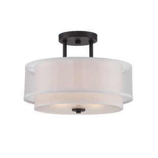 Siclen 2-Light Semi Flush Mount by World Menagerie
