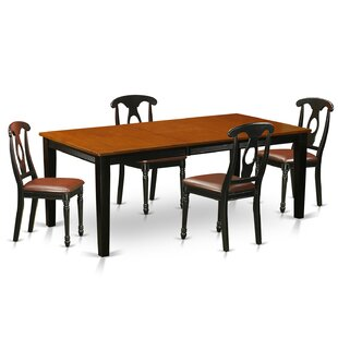 Pilger Modern 5 Piece Wood Dining Set August Grove