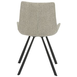 Brownlee Side Chair in Linen - Light Gray (Set of 2) by Brayden Studio