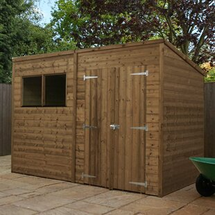 10 Ft. W X 5 Ft. D Shiplap Pent Wooden Shed By WFX Utility