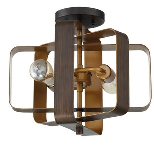 Franklin 2-Light Semi Flush Mount by George Oliver