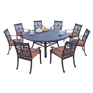 Astoria Grand Mccraney 9 Piece Dining Set with Cushions