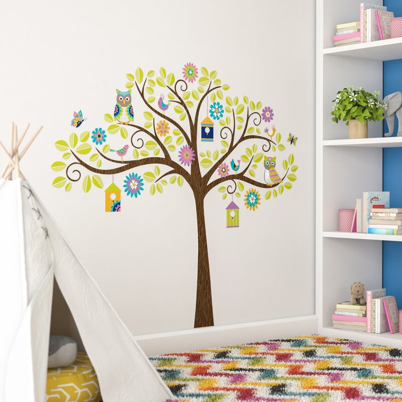 Superbe Jacob Owl Tree Wall Decal