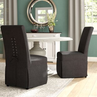 Red Barrel Studio Benton Harbor Parsons Upholstered Dining Chair (Set of 2)