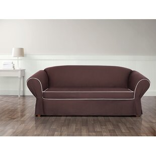 Shop Tailored Box Cushion Sofa Slipcover by Sure Fit