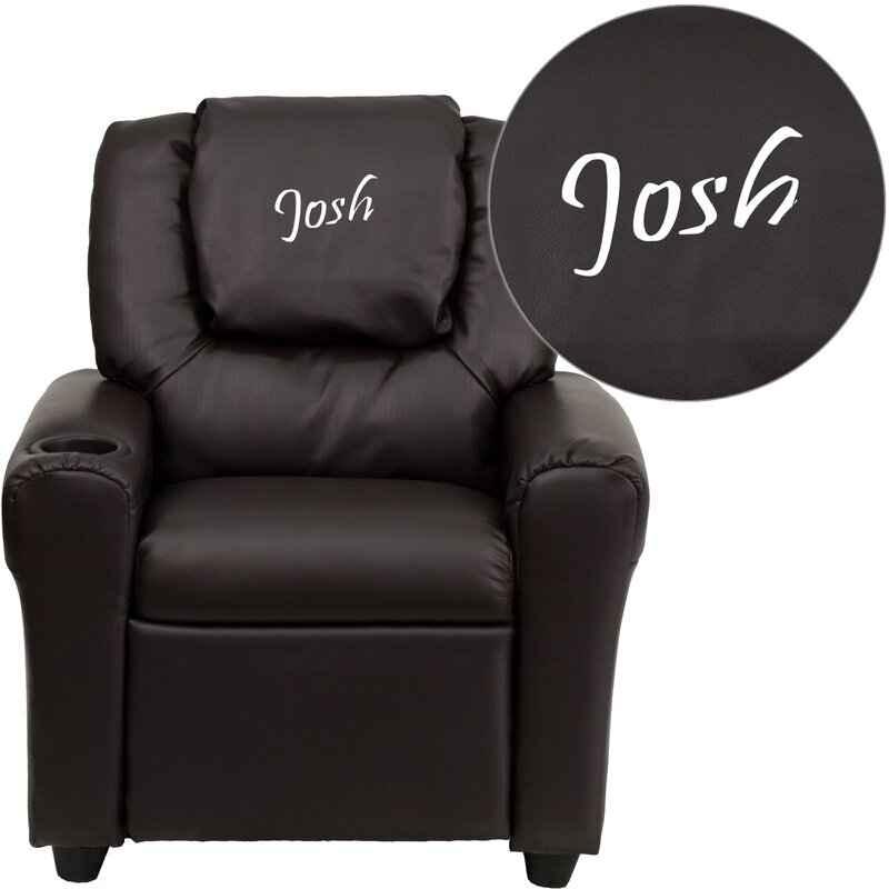 Deluxe Contemporary Personalized Kids Recliner with Cup Holder  sc 1 st  Wayfair & Flash Furniture Deluxe Contemporary Personalized Kids Recliner ... islam-shia.org