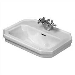 Online Reviews 1930 Series Ceramic 20 Wall Mount Bathroom Sink with Overflow By Duravit