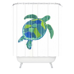 Sea Turtle Single Shower Curtain