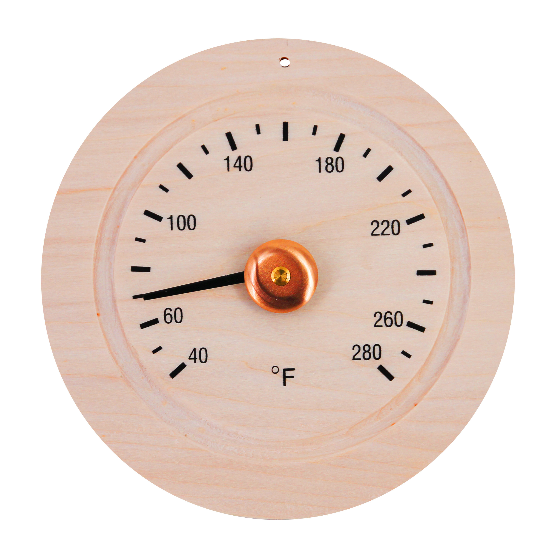 Aleko Round Pine Wood Sauna Gage Thermometer Wayfair