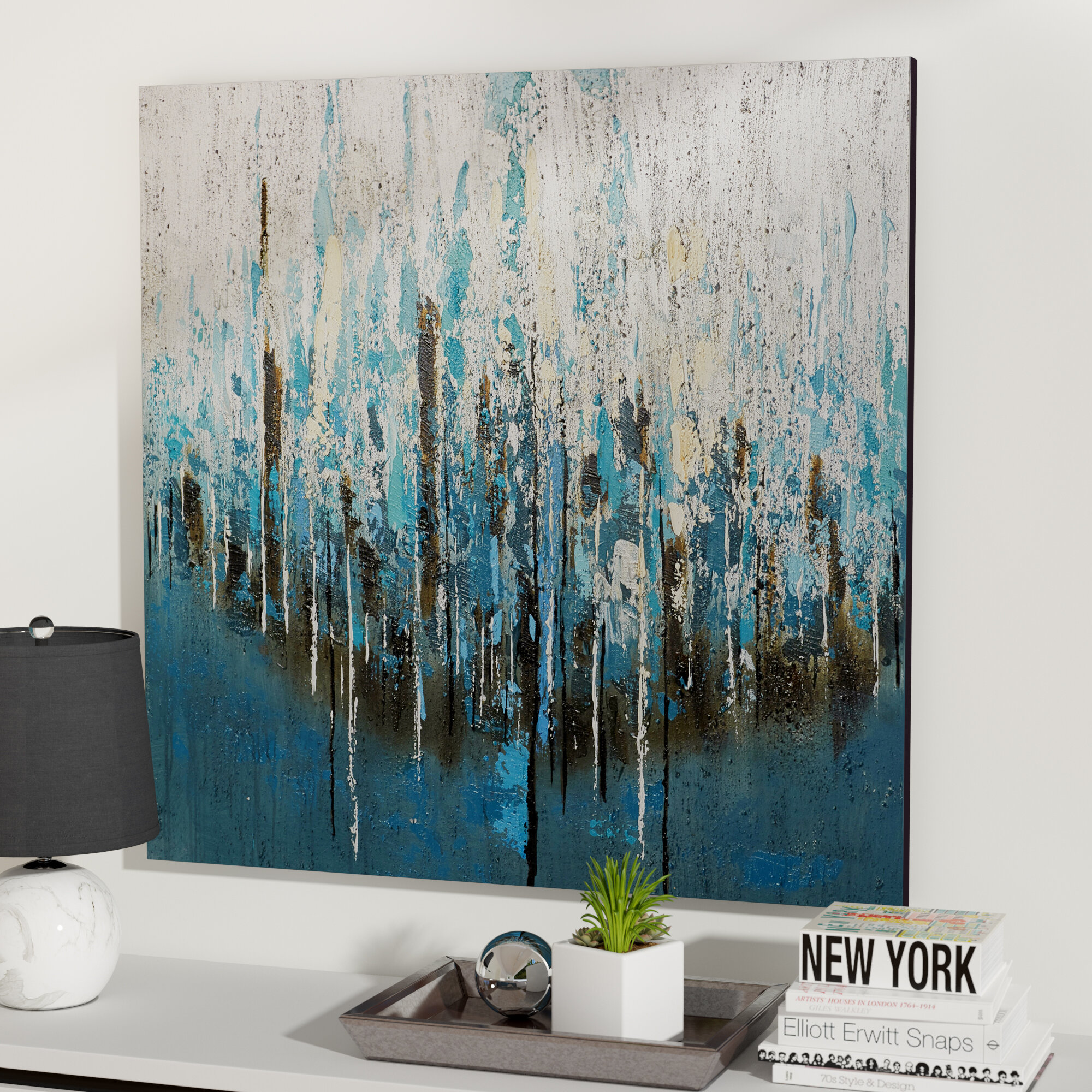 c35954590c0 Mercury Row  Splash Painting  Print on Wrapped Canvas   Reviews ...