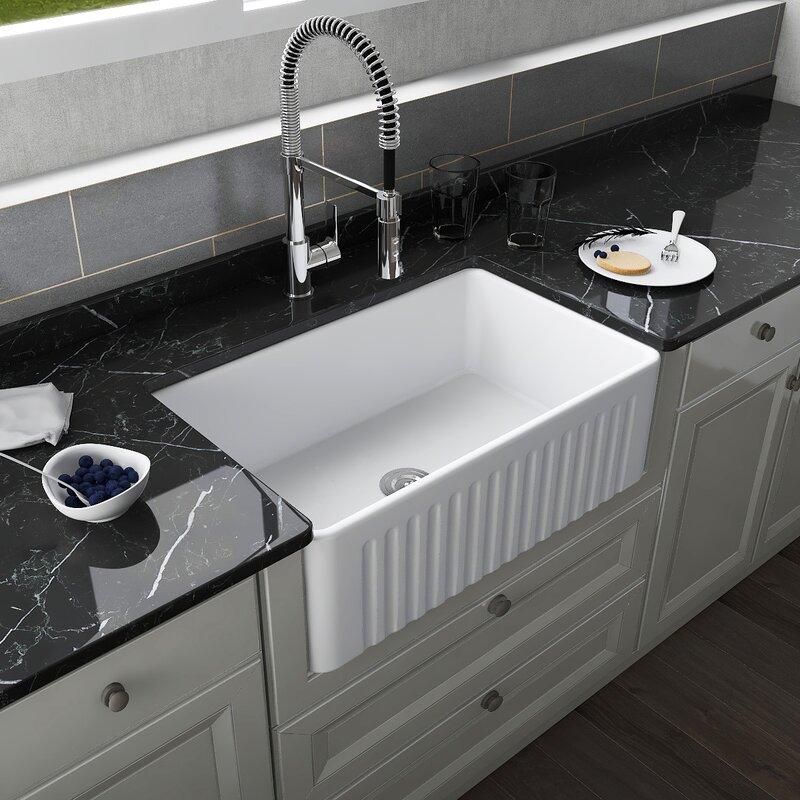 Deervalley 30 L X 18 W Farmhouse Kitchen Sink Reviews Wayfair