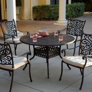 Astoria Grand Archway 5 Piece Dining Set with Cushions