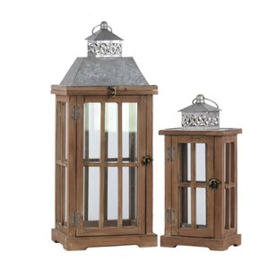 Shopping for 2 Piece Wood Lantern Set By Gracie Oaks