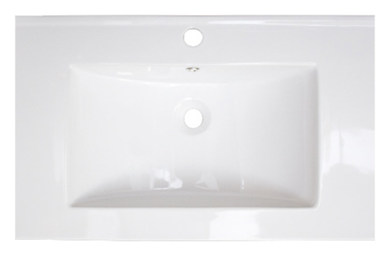 American Imaginations Flair Ceramic Rectangle Drop In Bathroom Sink With Overflow Wayfair