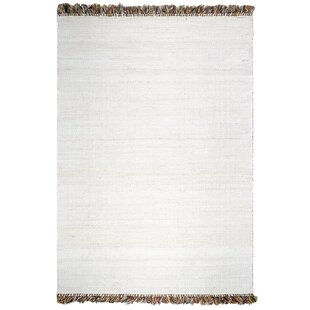 Places to buy  Skidmore Saguaro Hand-Woven White Indoor/Outdoor Area Rug Compare prices