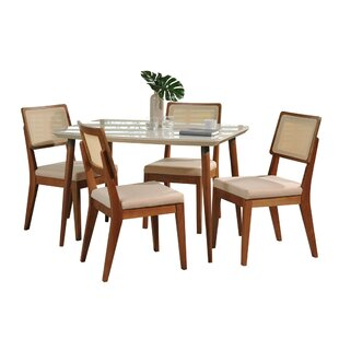 Tasker 5 Piece Dining Set by Union Rustic Discountt